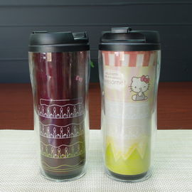 China PP Plastic Change Color Frozen  Kids Coffee Mugs Black Red Yellow White supplier