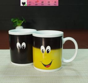 China Best business idea innovative products color changing porcelain mug supplier