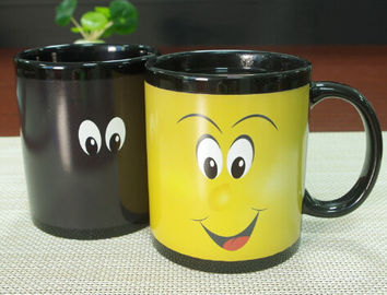 China Custom Black Color Changing Magic Heat Transfer Reactive Mug FOR BOYS supplier