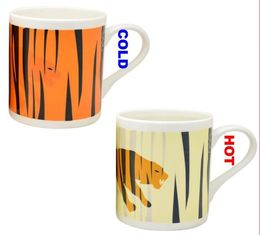 China Gift color changing stoneware mug , custom personalized Heat Sensitive Coffee Mug supplier