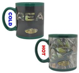 China Customized LOGO Color Changing Coffee Mug , ceramic stoneware mug supplier