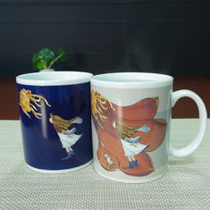 China Customized LOGO color changing ceramic coffee mug As your request supplier
