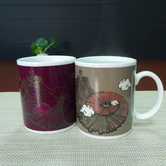 China Porcelain Color Changing Cup / ceramic Temperature Color Changing Cups supplier