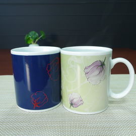 China Ceramic Color Changing Coffee Mug , christmas heat changing custom color changing mug supplier