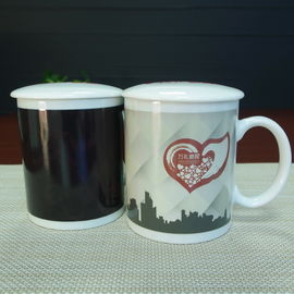 China Unique Color Change magic custom heat sensitive mug with lid supplier