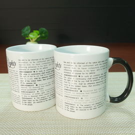 China Color Changing Personalised Mugs With Customized Words Message supplier