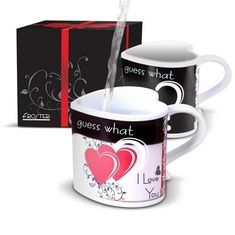 China 280ml Ceramic coffee mugs for couples / create heart shaped handle mug supplier