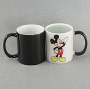 China Advertising white color food grade magic ceramic mug FOR promotion gift supplier