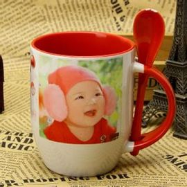 China Photo Custom A B Grade Personalized Kids Mugs , Porcelain Eco Friendly Mugs supplier