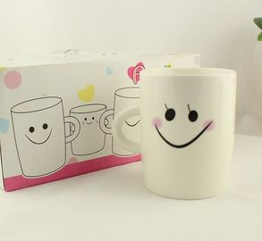 China Logo And Shape changing color Personalized Kids Mugs With Handle And Spoon supplier