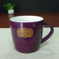 China Purple glazed Eco Friendly Mugs , magic temperature color changing cups supplier