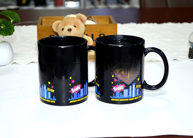 China Magical Fashion Heat Reactive Color Changing Coffee Mug 11oz Capacity supplier