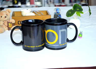 China Fashion Ceramic Printed Magic Coffee Mug , Color Changing Heat Sensitive Mug Custom supplier