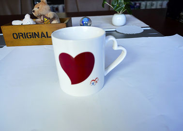 China Heart Handle Promotional Eco Friendly Mugs , Gift Advertising Love Heart Mug supplier