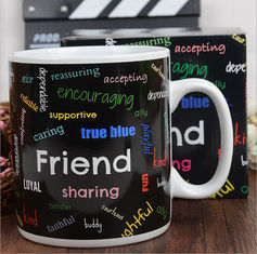 China Ceramic Eco Friendly Mugs Full Printing / Colorful Eco Friendly Travel Mug Custom supplier