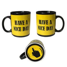 China Finger Mug with 5 color styles Black Ceremic Printing Finger cup Mug 11oz/300ml supplier