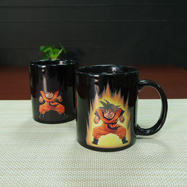China Heat Sensitive Color Changing Mugs Yellow Goku Dragon Ball Magic Mug Coffee Mug Decoration supplier
