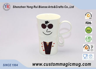 China Advertisement Gifts 300 ml Heat Sensitive Coffee Mugs That Change Color With Heat supplier