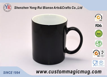 China Custom Black Water Bottle Ceramic Magic Photo Mugs Colour Changing supplier