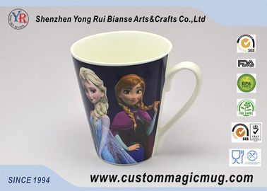 China Cartoon Figures Decoration 12oz Color Changing Coffee Mugs Printed Logo supplier