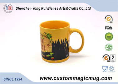 China Novelty Heat Sensitive Color Changing Mugs , Thermochromic Coffee Mug supplier