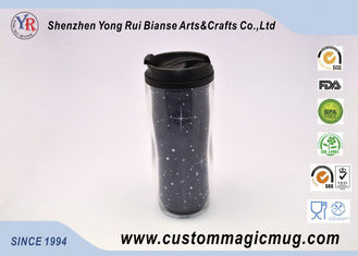 China Customizable Large Double Wall Mugs Plastic With Interlayer 12oz 350ml supplier