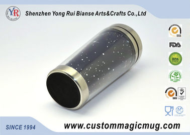 China Black Ceramic Custom Magic Mug , 11oz Starbucks Ceramic Coffee Mug supplier