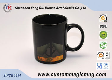 China Ceramic Color Changing Coffee Mug , Black Magic Photo Mug 300ml/11oz supplier