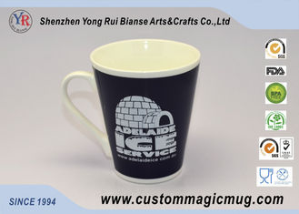 China 12oz V Shaped Colour Changing Cup Starbucks Ceramic Coffee Mug supplier
