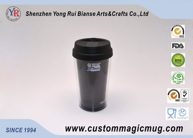 China Custom Black Double Wall Plastic Cup for Variety Children's Day Gift supplier
