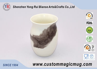 China Customized Temperature Color Changing Cups Ceramic Rice Wine Mug supplier