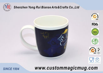 China Novelty Milk Beverage Color Changing Ceramic Mug , Thermochromic Coffee Mug supplier