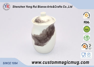China Unique Shape Hot Water Color Changing Ceramic Mug For Drinking Tea Cup supplier