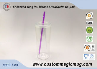 China Clear Food Safety Grade 200ml Plastic Straw Cup for Children's Gift supplier