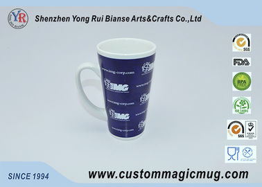 China Eco-friendly Large V Shaped Mug 12oz , Ceramic Porcelain Tea Mugs supplier