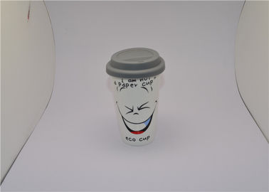 China Personalized Ceramic V Shaped Mug , Magic Color Change Cup 12oz supplier
