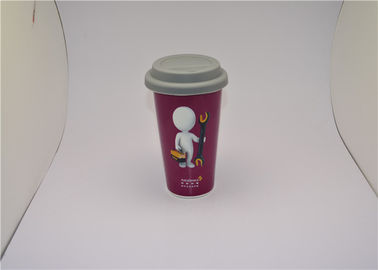 China 13oz Personalised Color Change Starbucks Ceramic Travel Mug Double Wall supplier