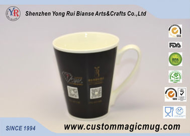 China Large Starbucks Colour Changing Ceramic Cup Mugs Heat Sensitive supplier