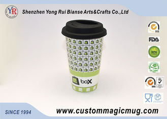 China Beautiful Porcelain 11oz Sublimation Magic Photo Mugs Heat Transfer supplier