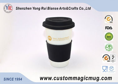 China Starbucks Porcelain White Color Changing Coffee Mug Personalized Pattern supplier