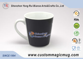 China Ceramic Porcelain Heat Sensitive Magic Mug That Change Color , V shape supplier