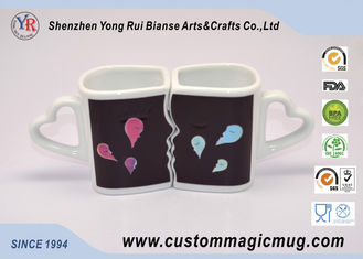 China Eco-friendly mug Custom Heat Sensitive Handle Couples Coffee Mugs Change Color Heat supplier