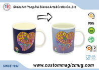 China Ceramic Heat Reactive Mugs , Christmas Gift Personalised Magic Mugs company
