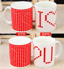 China White Promotion Mugs Color Changing Coffee Mug 19KGS 300ML FDA factory