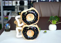China Creative Promotion Personalized Kids Mugs Doughnut Shape Dolomite Drinkware factory