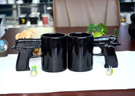 China Gun Style Handle Eco Friendly Dinnerware , Eco Mug Ceramic For Promotion factory