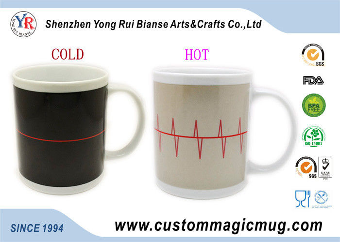 300ml Color Change Heat Sensitive Mug , Personalized Kids Coffee Mugs