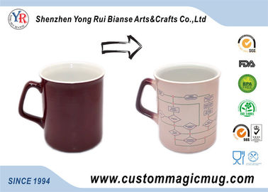 China White 300ml Eco Friendly Coffee Mugs Personalized Temperature Change For Hotel distributor