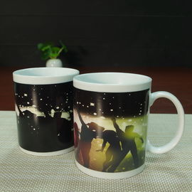 China Temperature sensitive coffee mugs heat and reveal mug dia 8cm x height 9.5cm factory