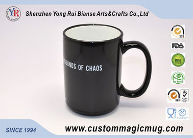 China Personalised Magic Photo Mug , Porcelain Black Color Changing Mug distributor
